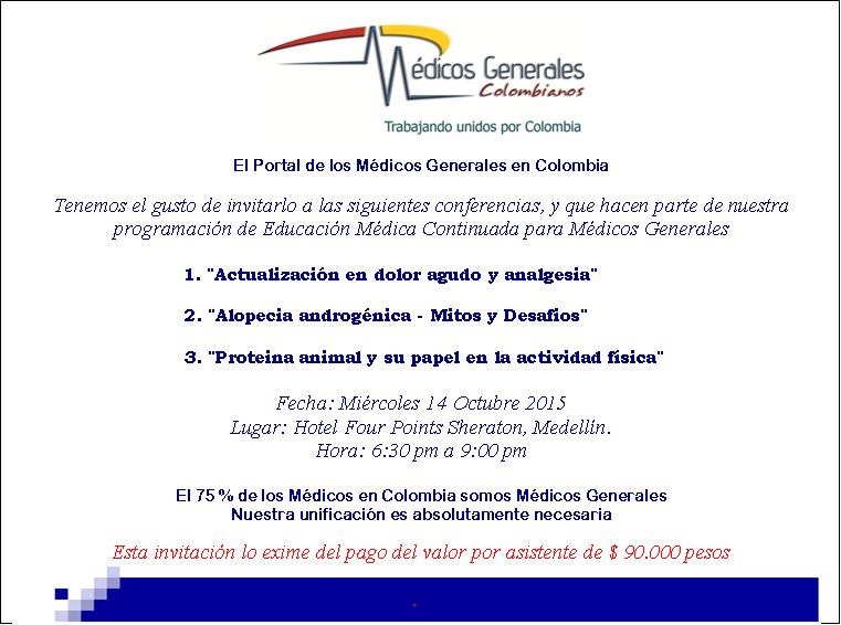 Tarjeta De Invitacion Simposio En Medellín Miércoles 14 De